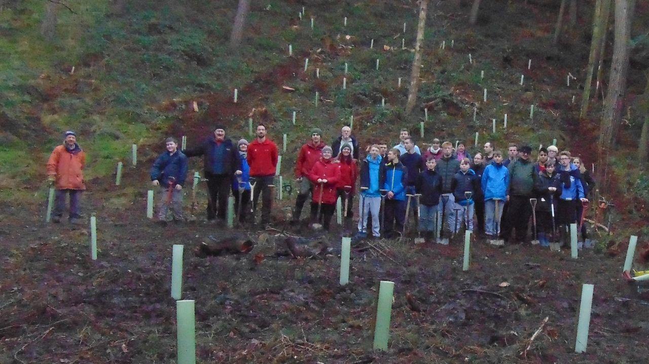 55 Sqn Tree Planting