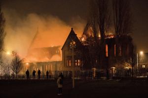 Fire Salford Church Ascension